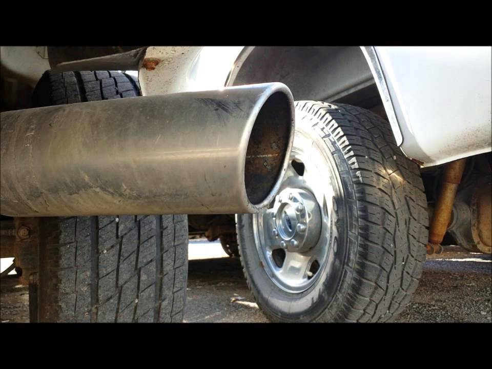 "Best Diesel Engine Truck >> Ford F350 6.0 powerstroke diesel exhaust sound turbo whistle 4"" turbo back best - YouTube"