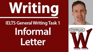 IELTS General - How to write an informal letter