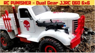 RC PUNISHER - JJRC Q60 6x6 DUAL GEAR RC TRUCK | EP 2 - THE BURNING OIL TANKER | RC WITH POPEYE