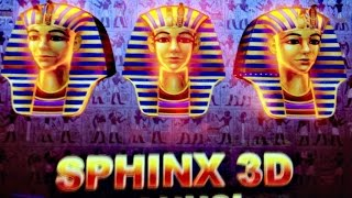 SPHINX 3D slot machine Bonus and  Ramosis Wild Feature WIN