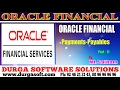 Oracle Finacial||online training||payments and payables Part-11 by SaiRam