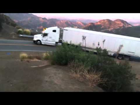 18 Wheeler On Mulholland Highway!!!