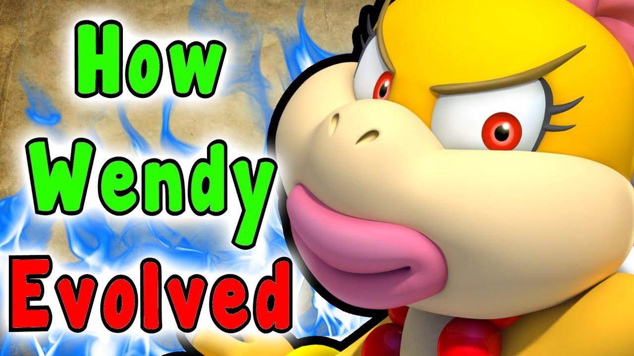 Super Mario Evolution Of Wendy O Koopa Koopalings 1988 2017