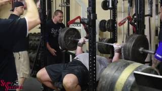 Worlds Strongest Man Brian Shaw   Training Highlights   Bench Press