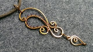 copper pendants inspired motifs Henna - Wire Wrapping Ideas 157