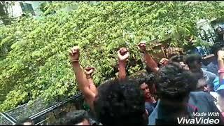 Vijay Fans Protest against Kairali Tv 'Loudspeaker' Program at Trivandrum, Kerala