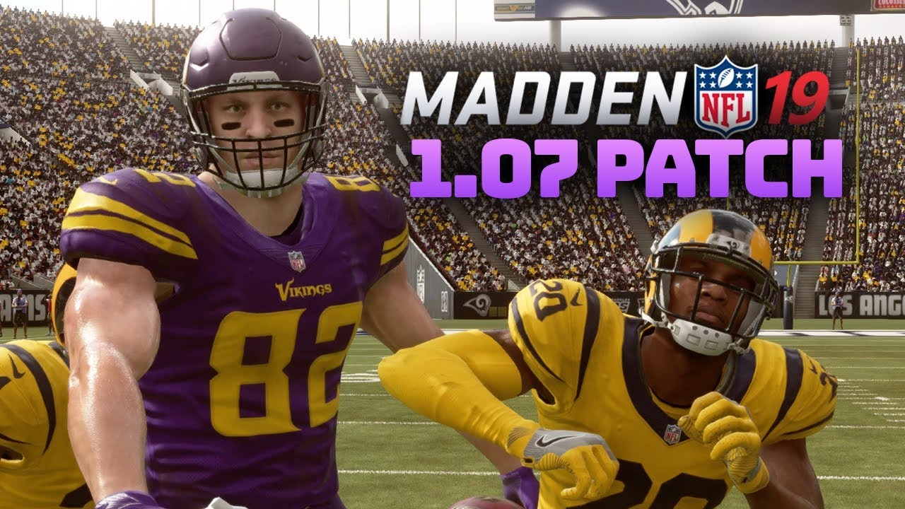 703c5a04 Madden 19 New Patch 1.07 - Minnesota Vikings vs Los Angeles Rams (Madden 19  Hit Stick Gameplay)