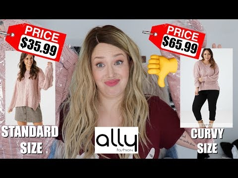 WTF Ally?! I feel Betrayed! Paying MORE for PLUS SIZE! thumbnail