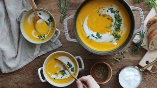 [ENG CC] 몸을 부드럽게 녹여주는 단호박 수프 : Pumpkin Soup, Kabocha Squash Soup [아내의 식탁]
