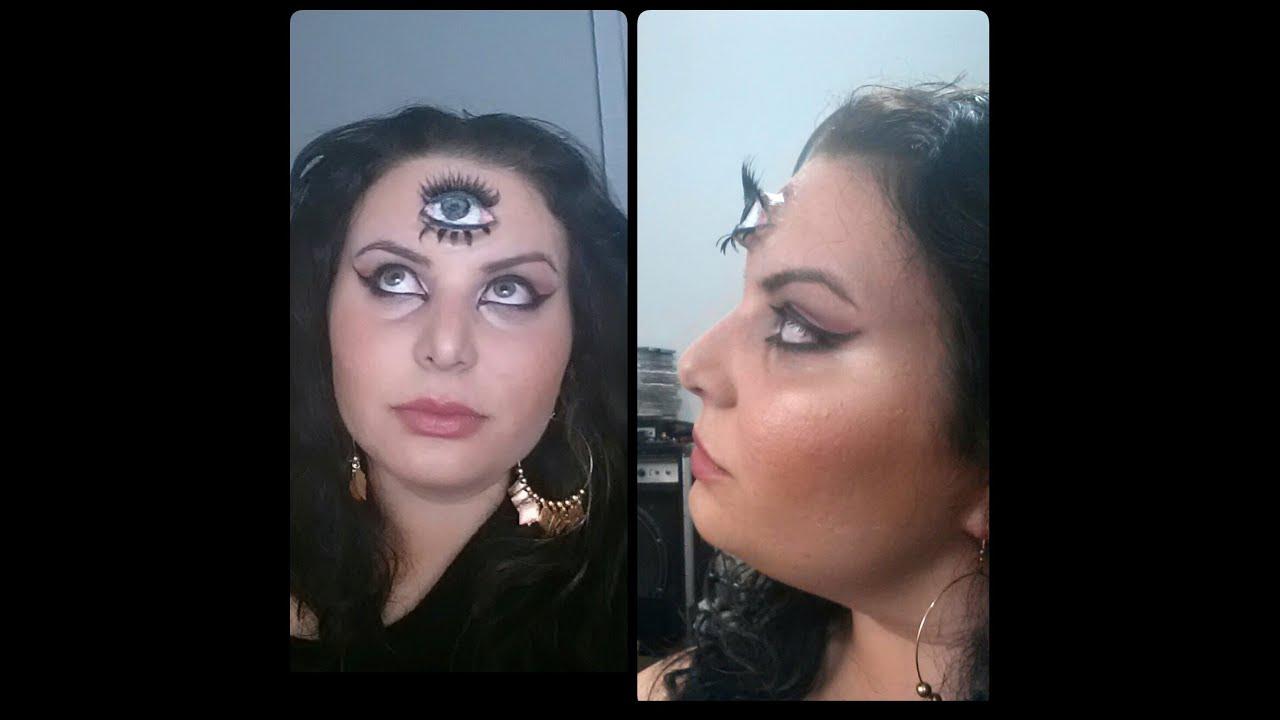 3rd Eye Tutorial: Fortune Teller Halloween Makeup - YouTube