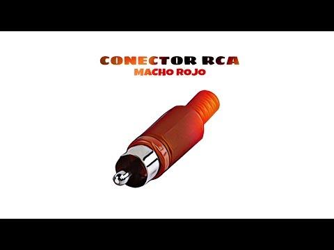 Video de Conector RCA macho  Rojo