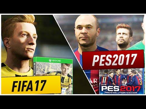 OMG!! FIFA 17 VS PES 2017!! OFFICIAL GAMEPLAY ITA! - 동영상