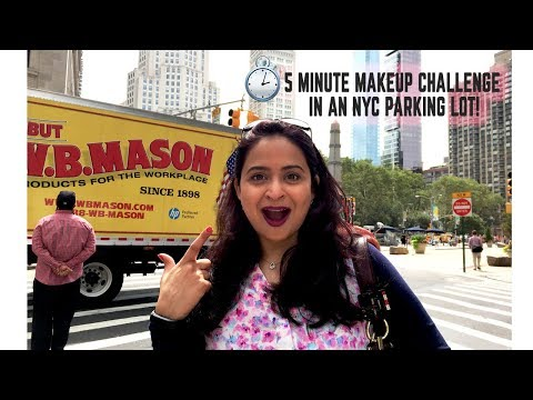 5 Minute Makeup in an NYC Parking Lot | Food.Glam.Life Out and About
