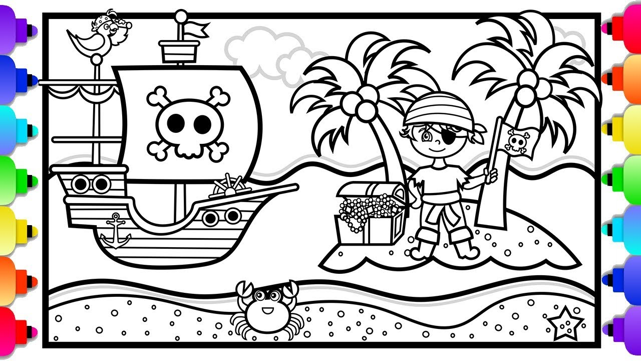 Pirate Coloring Pages - GetColoringPages.com | 720x1280