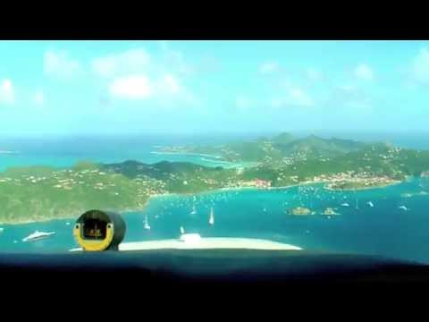 FLYING TO ST BARTH