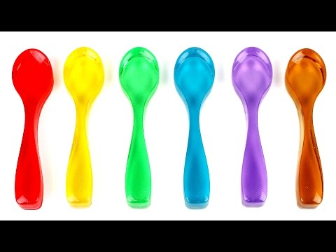 DIY How To Make Rainbow Spoon Pudding Recipe Learn Colors Gu