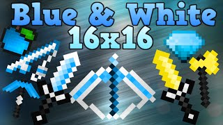 ★ Blue and White PvP Pack - Minecraft Default Edit- 1.7 1.8 1.9 UHC LowFire