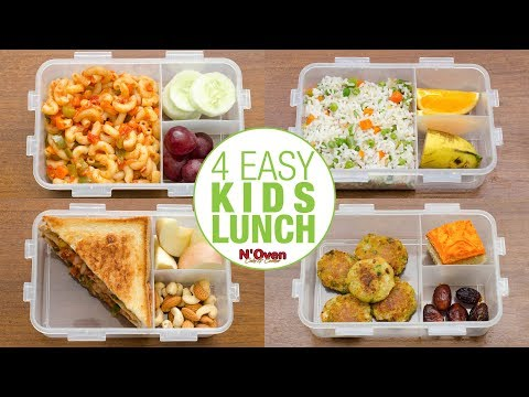4 INDIAN LUNCH BOX IDEAS L KIDS LUNCH BOX RECIPES L KIDS TIFFIN L VEG LUNCH BOX