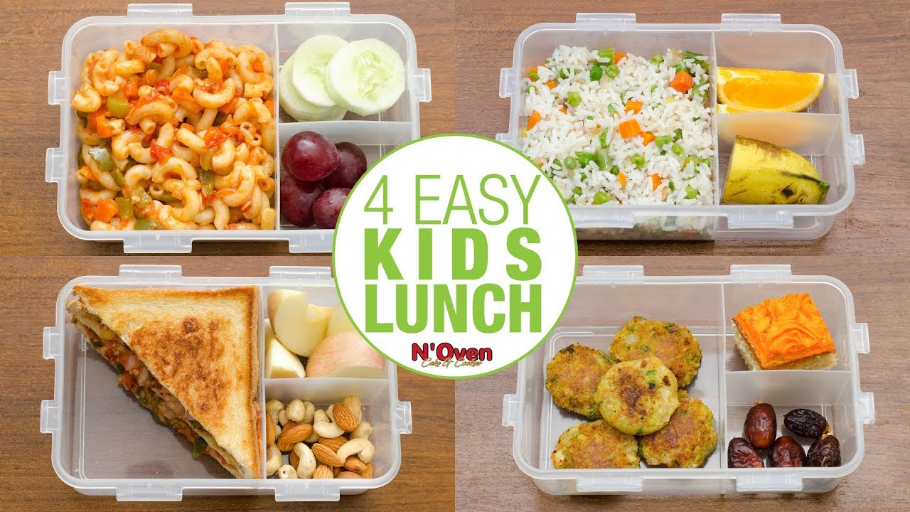 4 indian lunch box ideas l kids lunch box recipes l kids tiffin l
