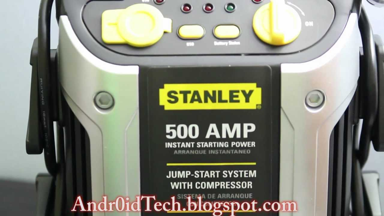 Stanley J5c09 500 Amp Jump Starter With Built In Air Compressor