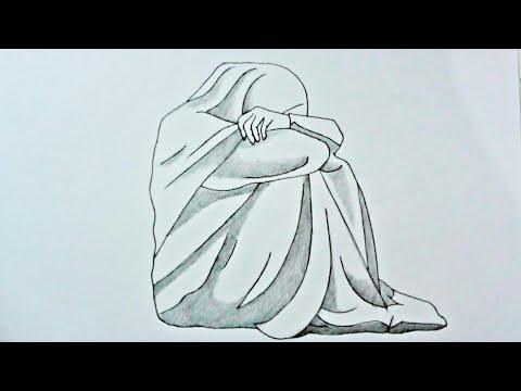 Sedih Menggambar Kartun Cewek Berkerudung Sedang Menangis Youtube