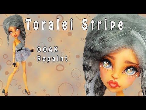 OOAK Monster High Toralei Stripe Custom Repaint