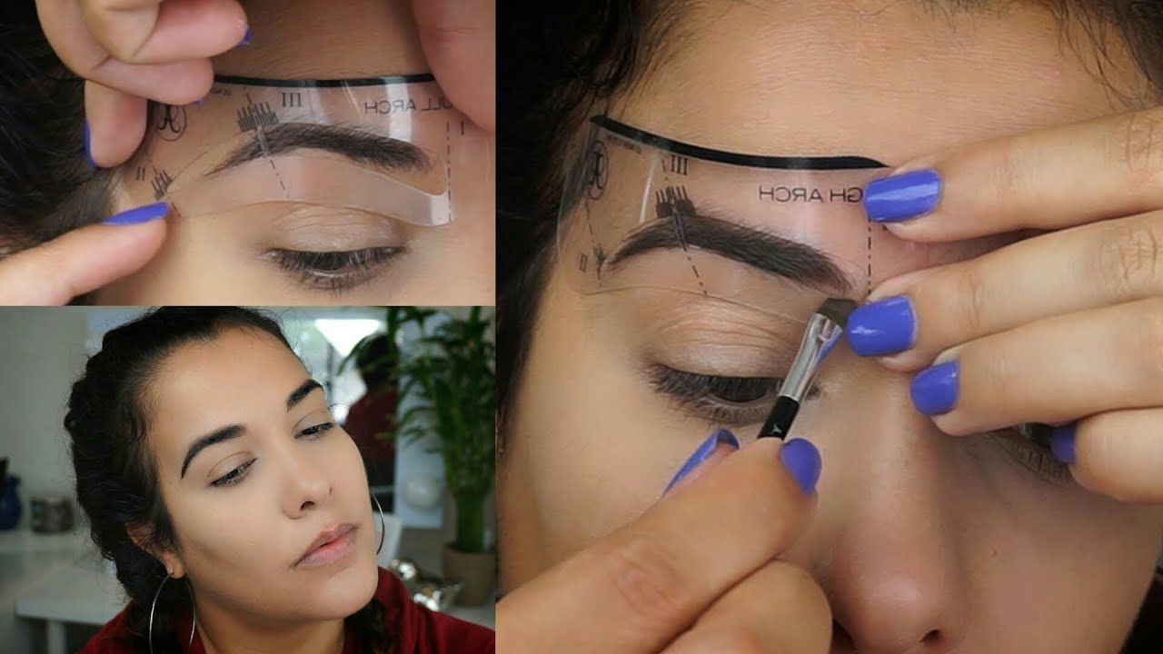 How to use eyebrow stencils