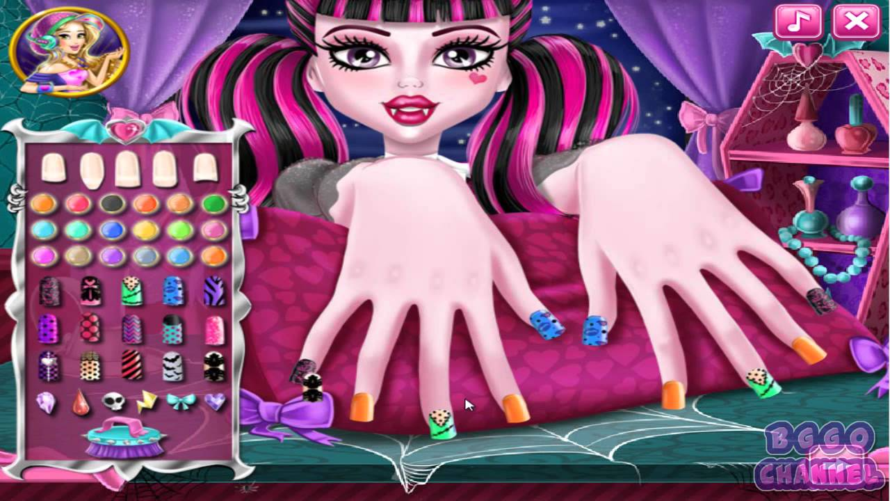 Monster High Nails Spa Monster High Nails Design Game Youtube