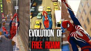 EVOLUTION OF FREE ROAM IN SPIDER-MAN GAMES (2002 - 2018)