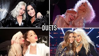 Christina Aguilera OUTSINGING Other Singers On Stage? | Duet Compilation