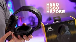 Corsair Overview - Headsets HS50, HS60 e HS70SE.