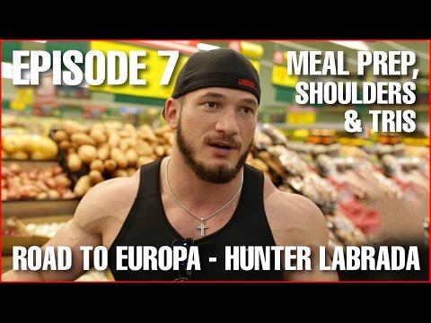 Shoulders & Tris + Meal Prep Explained - Episode 7: 6 Weeks to Contest - Hunter Labrada