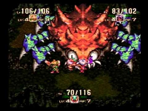 SFC聖剣伝説3 ゲームを体験してみた。 滝の洞窟~ボスを撃破までを体験 ...