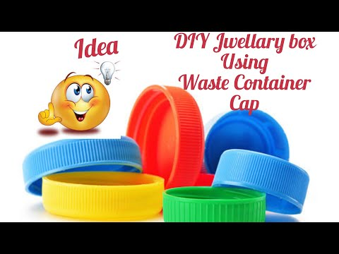How to make Tortoise Jewelry Box / Using container cap n paper cup / S V Craft Zone
