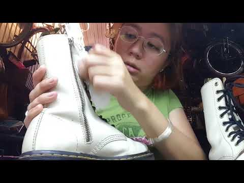 How to Clean your dr. Martens, boots using Saddle soap
