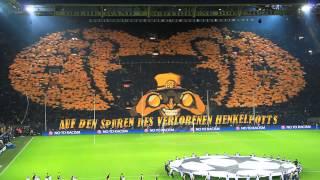 Auf den Spuren des verlorenen Henkelpotts - Borussia Dortmund vs. Malaga 3:2 - 09.04.13 - BVB Choreo