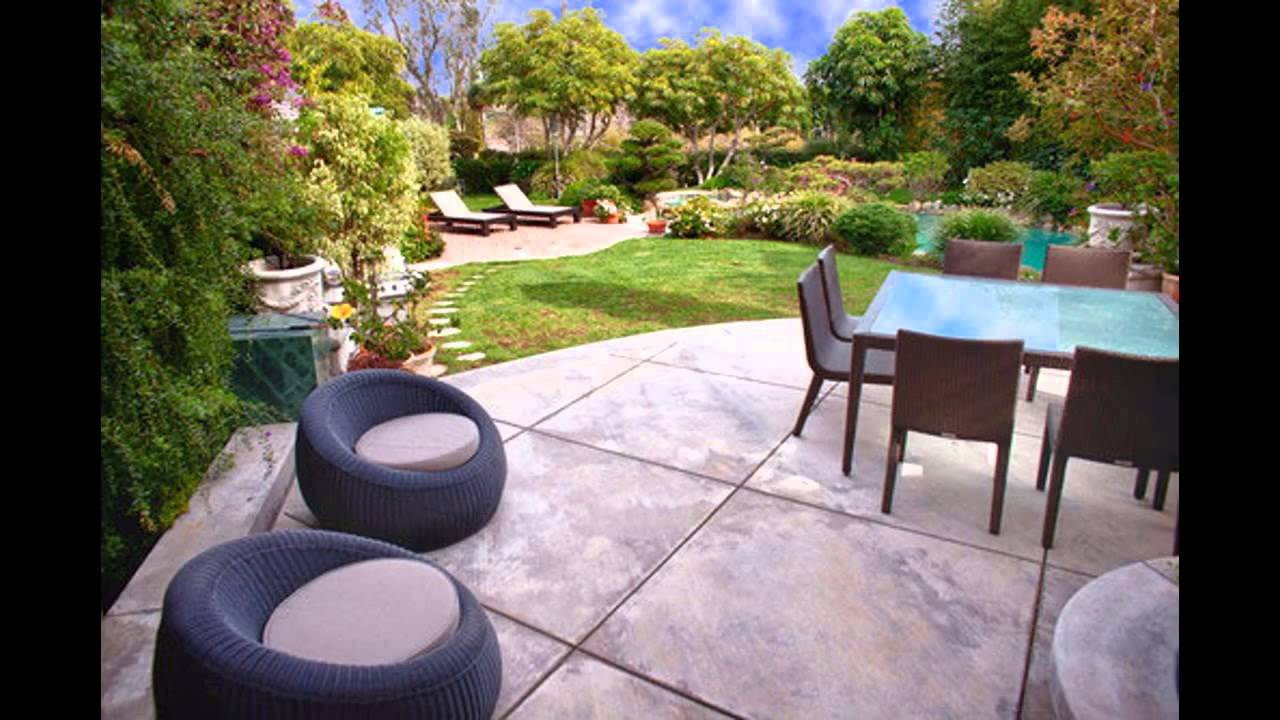 Concrete Patio Ideas   Home Art Design Decorations   YouTube
