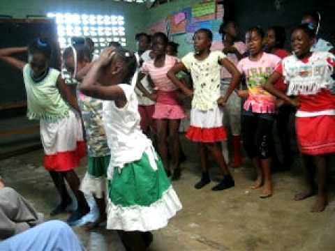 Jamaican girls dance and sing about the mongoose