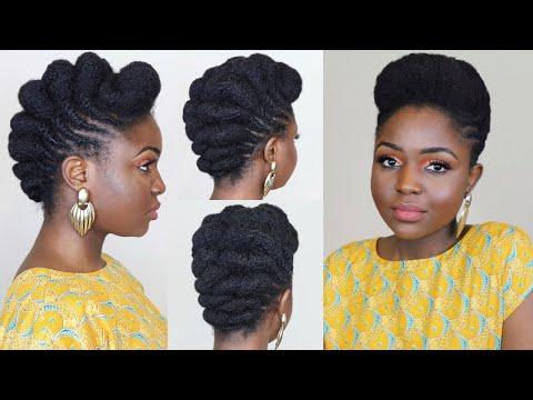 CLASSY ROLL & TUCK UPDO on natural hair ft Alikay Naturals