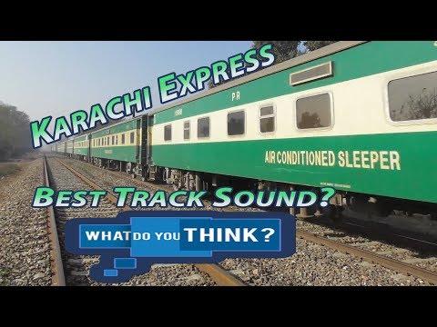 Karachi Express High Speed Thunder||Amazing Track Sound||Pattoki||Winters||Punjab Pakistan