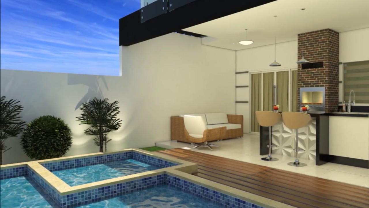 Projeto casa sobrado 2 pavimentos 180 metros terreno 8x25 for Casa moderna 140 m2