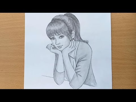how-to-draw-a-girl-step-by-step-/-pencil-sketch-drawing