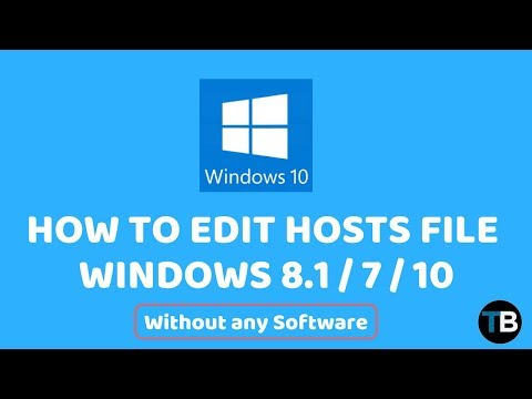 How To Edit Hosts File In Windows 10