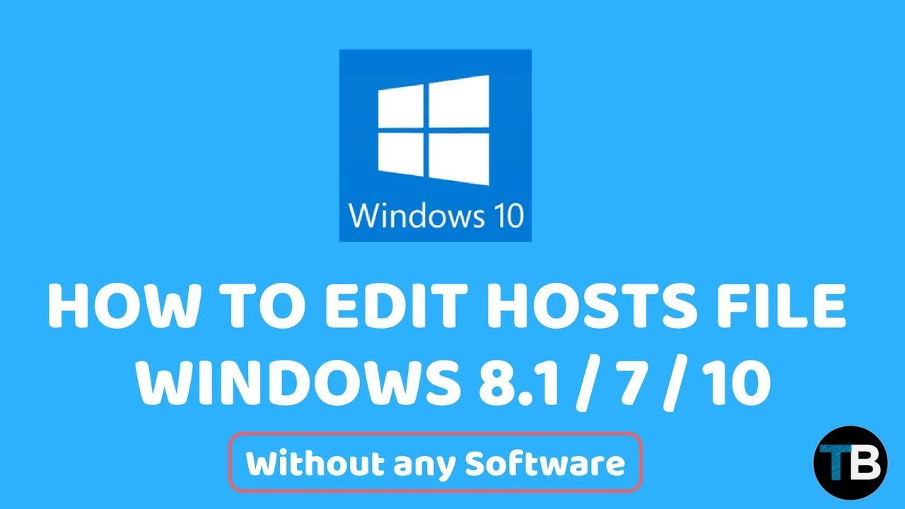 how to open a host file in windows 10