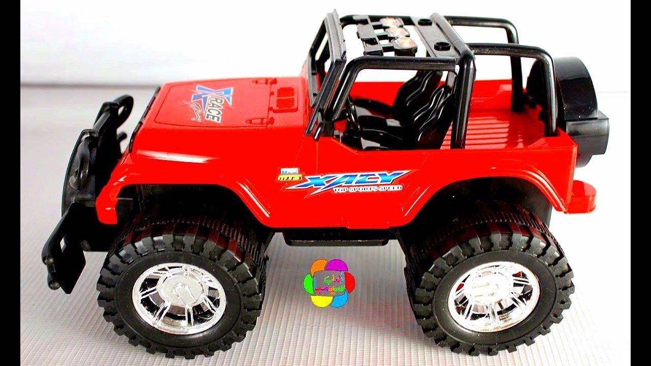 لعبة السيارة الجيب الحمراء الحقيقية الجديدة للاطفال اجمل العاب