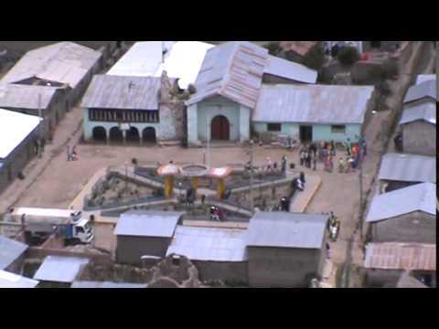 vista del pueblo de santa ana de aucara desde cerro media luna