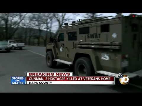 Gunman, 3 hostages found dead at veterans home