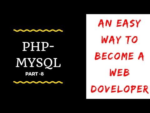 PHP - MYSQL Tutorial Part -8   Compelete Web development course   By Onlinewebpathshala
