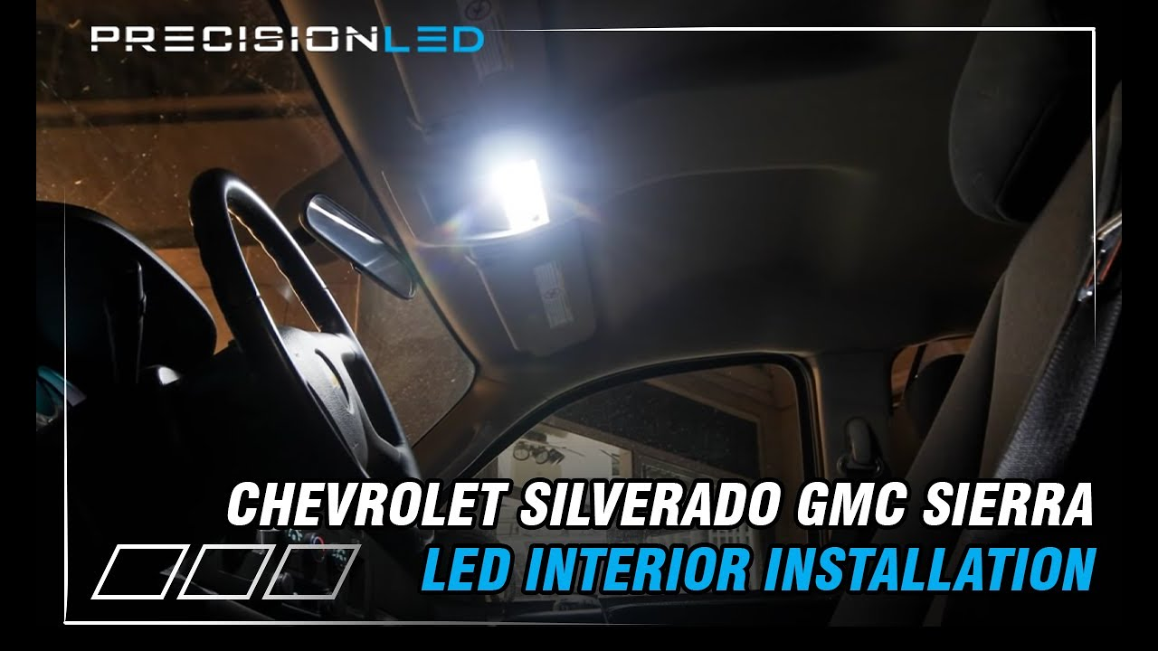 hight resolution of chevrolet silverado gmc sierra led interior lights how to install 2nd generation 2007 2014 youtube