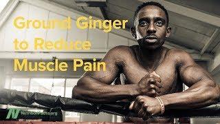 Sušený mletý zázvor na snížení bolesti svalů